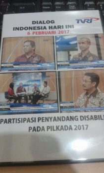 AGENDA talk show at TVRI on Voters with Disabilities, Jakarta, 2017-03-06