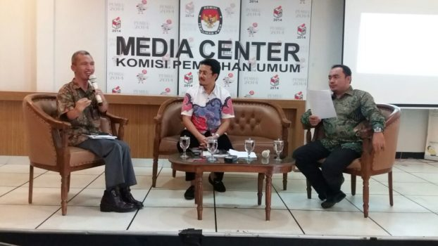 Media dicussion at KPU Media Center, Jakarta, 2017--02-24