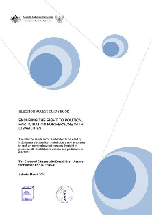 Cover Book Election Access Guide Book
