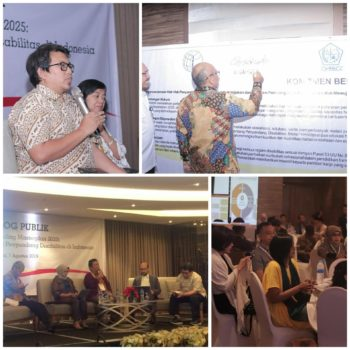 the Indonesian Disabled People's Association (PPDI), organized a public dialogue on the Masterplan in Jakarta