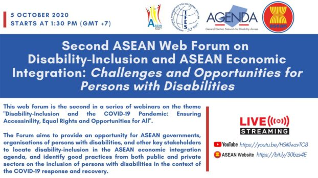 Second ASEAN web forum on Disability Inclusion and ASEAN Economic Integration