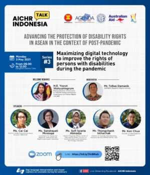 [REGISTER NOW] Webinar on Maximizing Digital Technology to Improve the Rights of Persons with Disabilities during the Pandemic