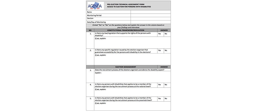 Checklist for Coordinator (election stages monitoring)
