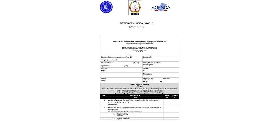 AGENDA Election Observation Checklist (Khmer)