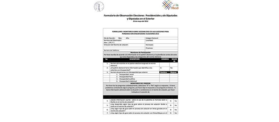AGENDA Checklist for Accessible Election (Spanish)