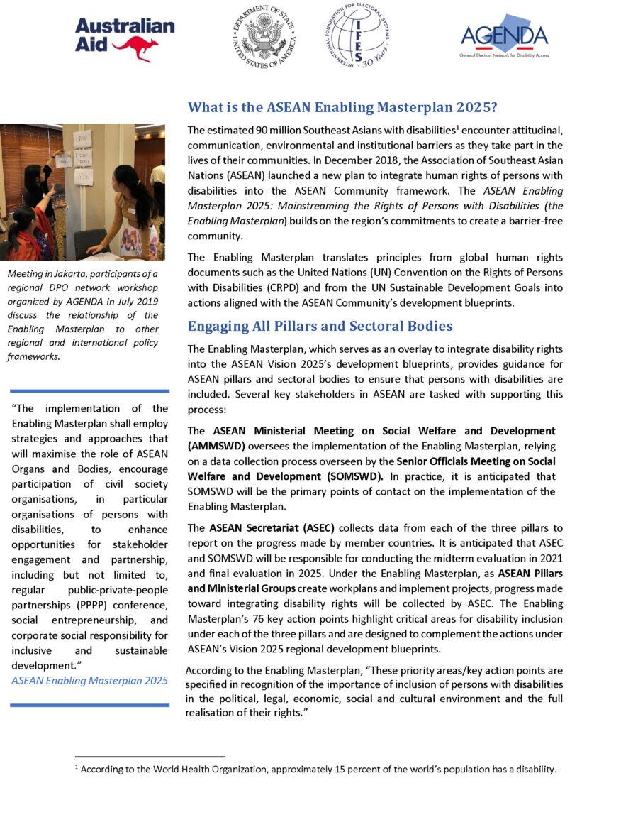 Masterplan Factsheet: ASEAN 2020