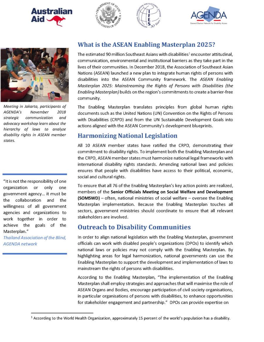 Masterplan Factsheet: National Governments 2020